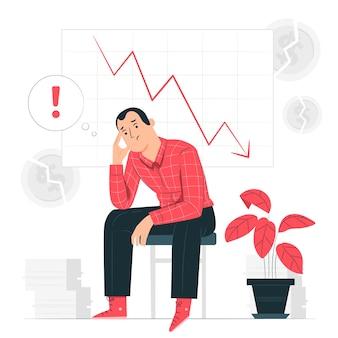 Ilustración del concepto de bancarrota