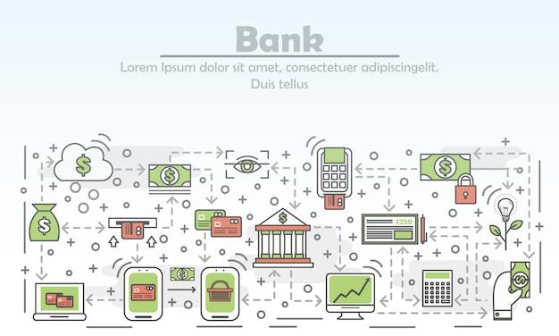 Ilustración del concepto de banco