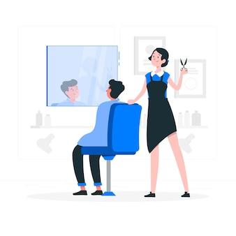 Ilustración del concepto de barbera