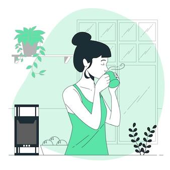 Ilustración de concepto de bebida caliente