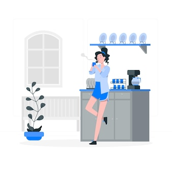 Ilustración de concepto de bebida caliente vector gratuito