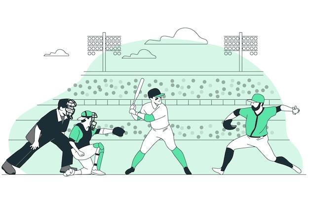 Ilustración del concepto de béisbol