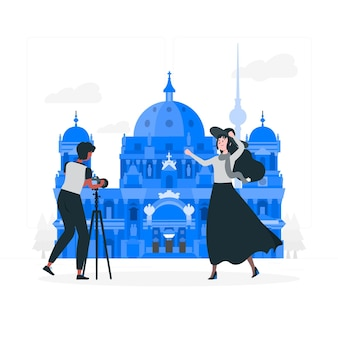 Ilustración del concepto de berlín