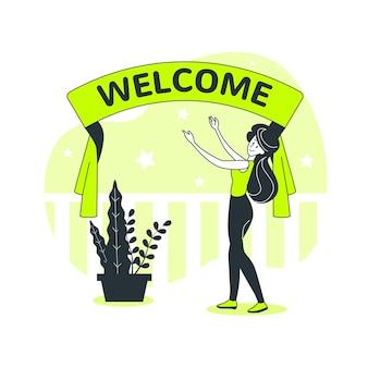 Ilustración de concepto de bienvenida