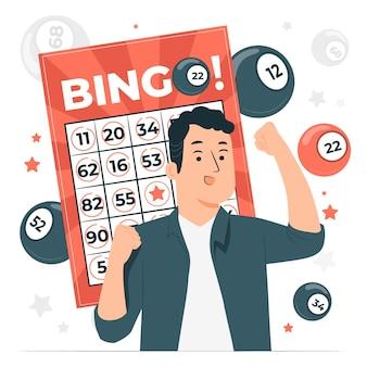 Ilustración del concepto de bingo