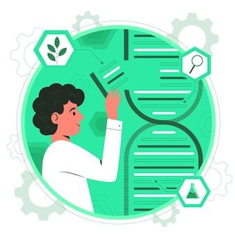 Ilustración del concepto de biotecnología