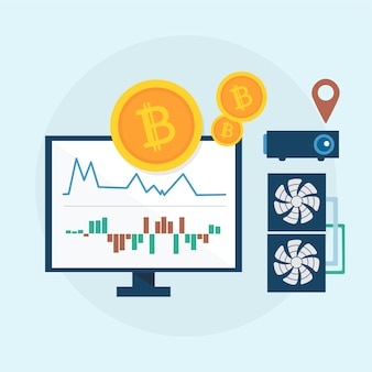 Ilustración del concepto de bitcoin