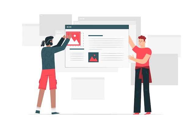 Ilustración del concepto de blogs