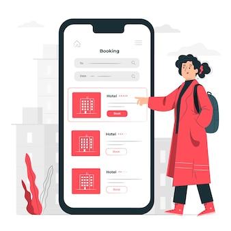 Ilustración del concepto de booking