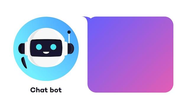 Ilustración de concepto de bot de chat para chat de marketing digital de discurso de burbuja de discurso de banner de asistente virtual
