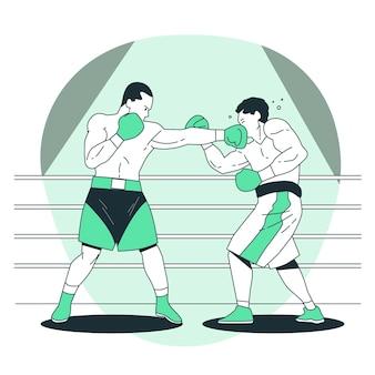 Ilustración del concepto de boxeo