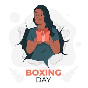 Ilustración del concepto de boxing day