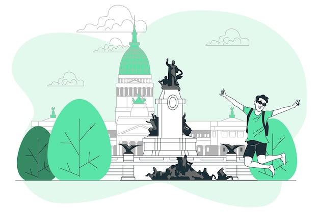 Ilustración del concepto de buenos aires