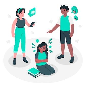 Ilustración del concepto de bullying