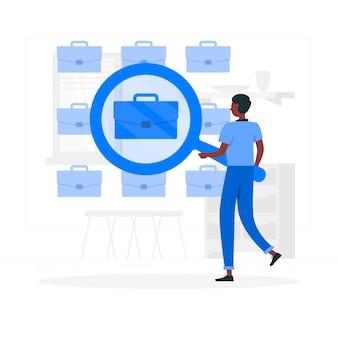 Ilustración del concepto de búsqueda de empleo