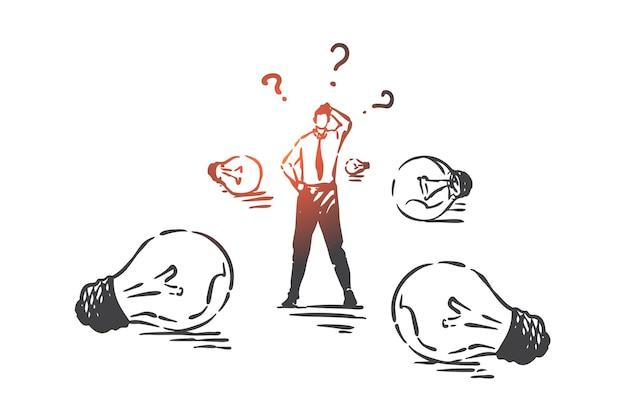 Ilustración de concepto de búsqueda de solución empresarial