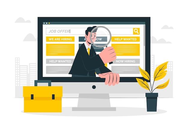 Ilustración de concepto de búsqueda de trabajo