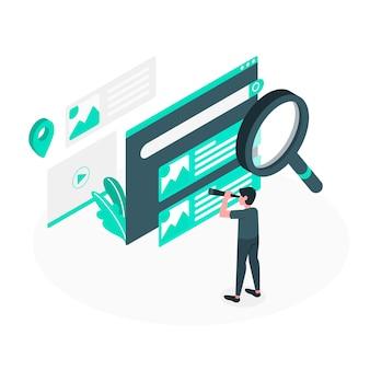 Ilustración de concepto de búsqueda
