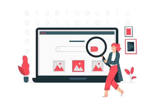 Ilustración del concepto de búsqueda