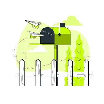 Ilustración de concepto de buzón