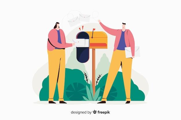 Ilustración del concepto de buzón
