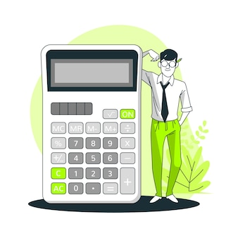 Ilustración del concepto de calculadora