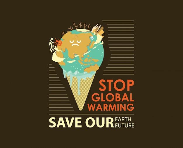 Ilustración del concepto de calentamiento global