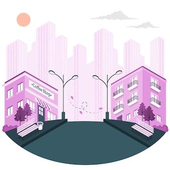Ilustración de concepto de calle vacía