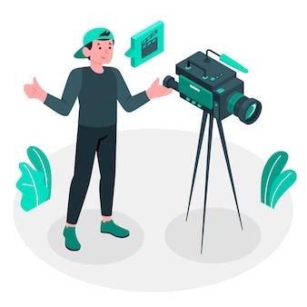 Ilustración del concepto de camarógrafo