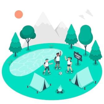 Ilustración del concepto de campamento de verano