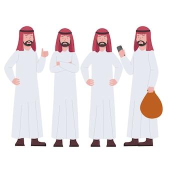 Ilustración de concepto de carácter de empresario árabe