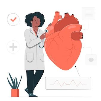 Ilustración del concepto de cardiólogo