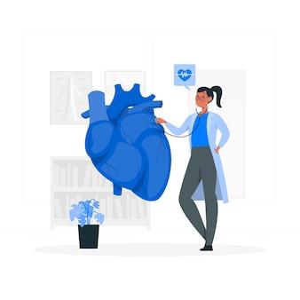 Ilustración del concepto de cardiólogo vector gratuito