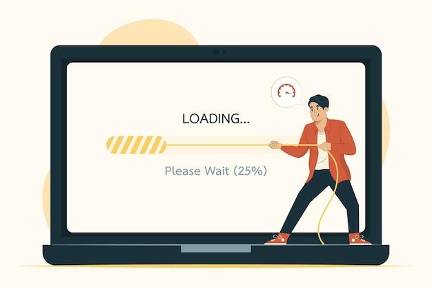 Ilustración del concepto de carga