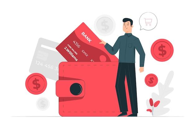 Ilustración del concepto de cartera
