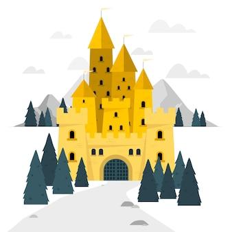 Ilustración del concepto de castillo