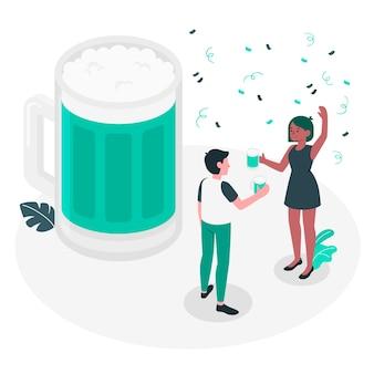 Ilustración de concepto de celebración de cerveza