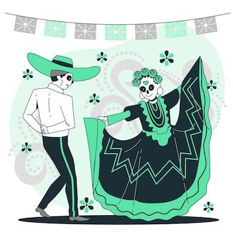 Ilustración de concepto de celebración de dia de muertos