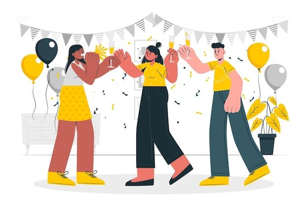 Ilustración del concepto de celebración