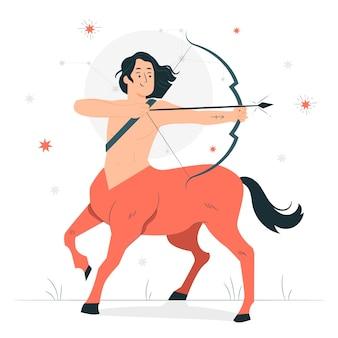 Ilustración del concepto de centauro