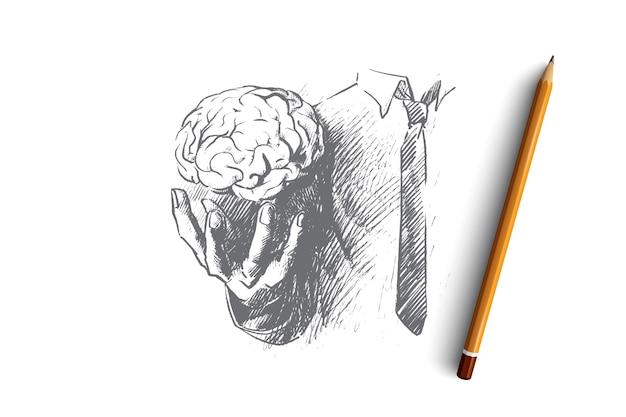 Ilustración del concepto de cerebro