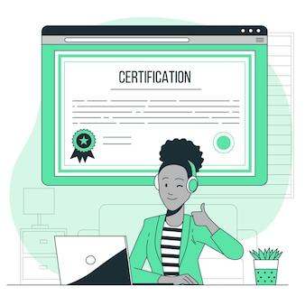 Ilustración del concepto de certificación