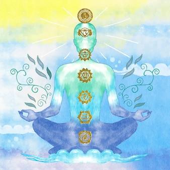 Ilustración del concepto de chakras