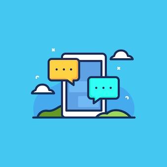 Ilustración del concepto de chat