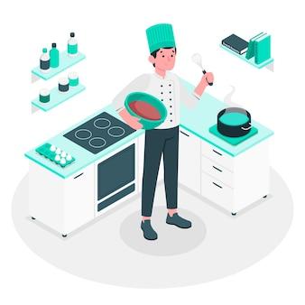 Ilustración del concepto de chef