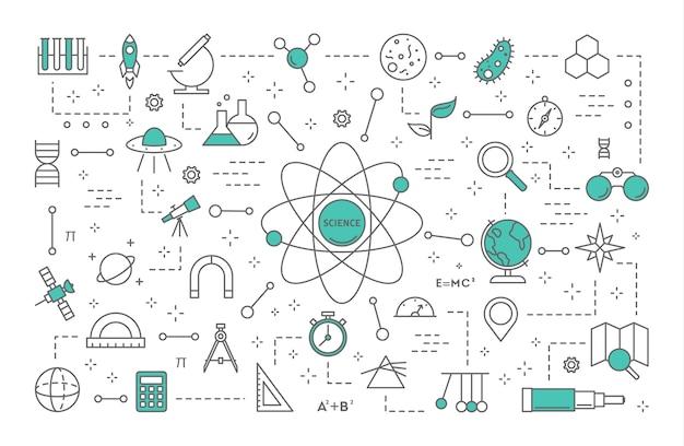 Ilustración del concepto de ciencia