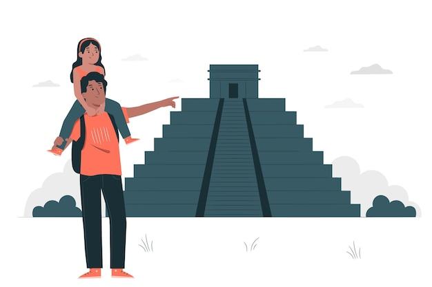 Ilustración del concepto de ciudad de méxico