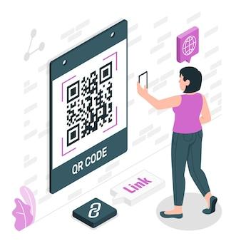 Ilustración del concepto de código qr