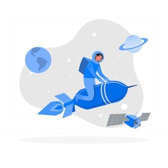 Ilustración del concepto de cohete