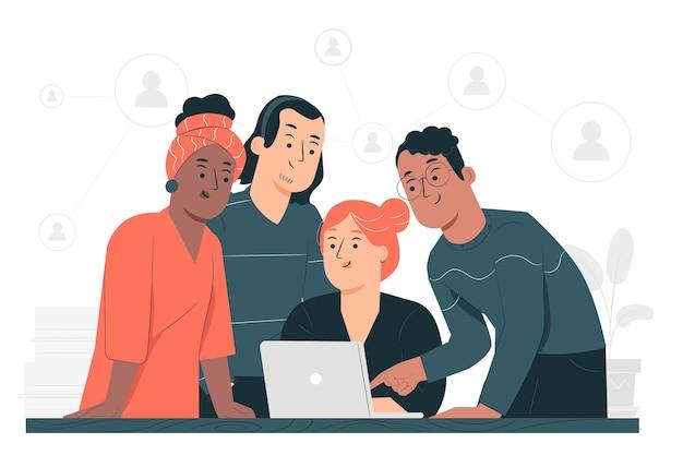 Ilustración del concepto de colaboración